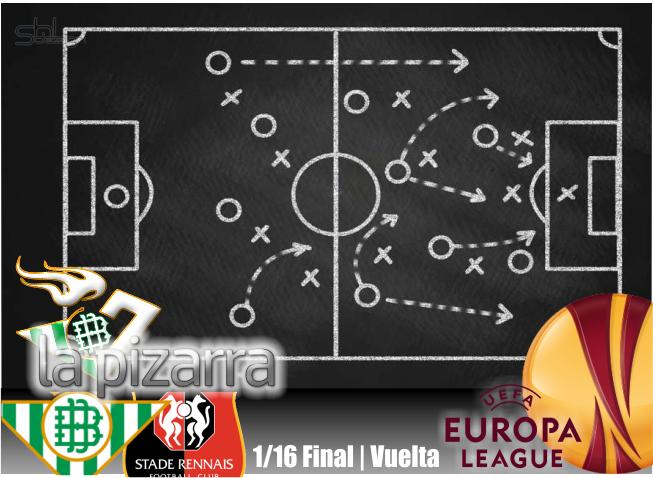 La pizarra   Real Betis vs Stade Rennais. UEL. 1/16. Vuelta.