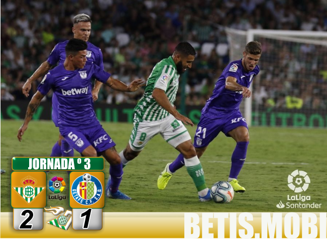 Crónica   Real Betis Balompié 2 – C.D Leganés 1: Reacción para sellar la primera victoria