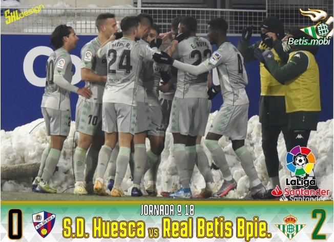 Crónica | SD Huesca 0 – Real Betis Balompié 2: Superando el temporal