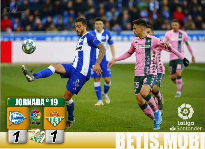Crónica   CD Alavés 1 – Real Betis Balompié 1 : Empate para abrir el año