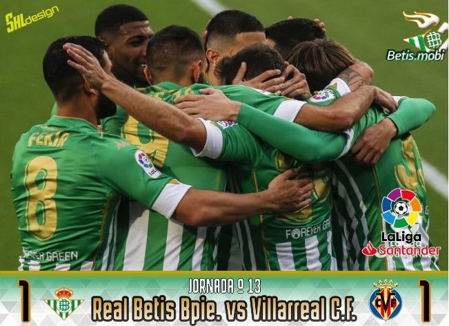 Crónica | Real Betis Balompié 1 – Villarreal CF 1: Ruibal rescata un punto en el Villamarín