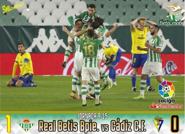 Crónica | Real Betis Balompié 1 – Cádiz CF 0 : 3 puntos y gracias