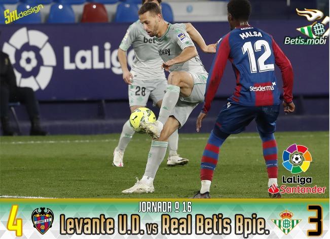 Crónica | Levante UD 4 – Real Betis Balompié 3: Enésimo naufragio