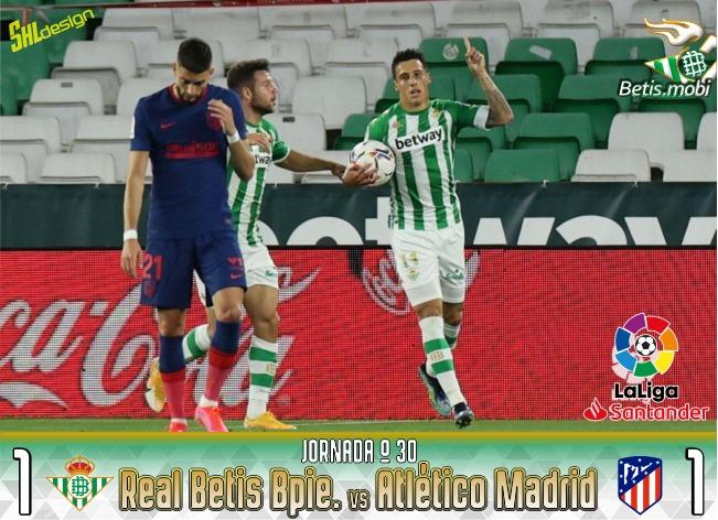 Crónica | Real Betis Balompié 1 – Atlético de Madrid 1: Se escaparon vivos