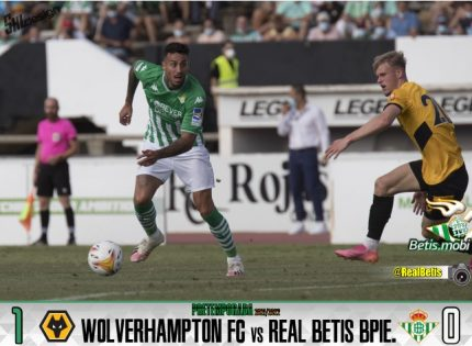 Pretemporada | Real Betis Balompié 0 – Wolverhampton 1: Derrota por la mínima en la Línea