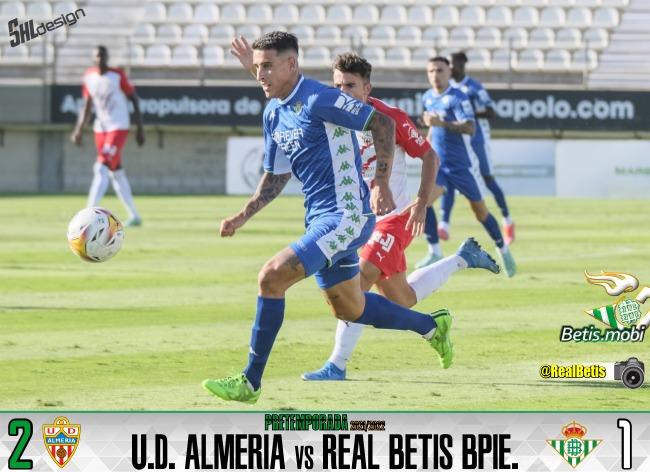 Pretemporada | UD Almería 2 – Real Betis Balompié 1: Derrota que no tiene defensa