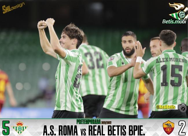 Pretemporada | Real Betis Balompié 5 – AS Roma 2: El Betis sale victorioso de la batalla campal romana