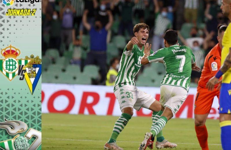 Crónica | Real Betis Balompié 1 – Cádiz CF: Se vuelven a escapar dos puntos