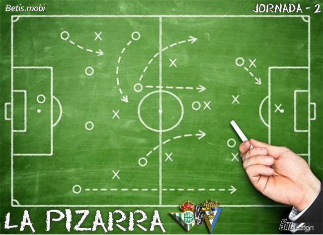 La pizarra | Real Betis Balompié-Cádiz CF | Temp. 21/22. La Liga. Jornada 2