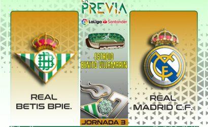 Previa   Real Betis Balompie-Real Madrid CF: Día para la confirmación