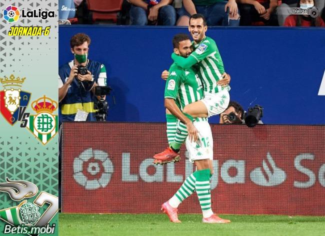 Crónica   CA Osasuna 1 – Real Betis Balompié 3: Victoria para seguir carburando