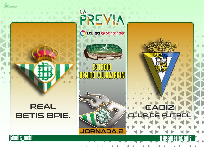 Previa   Real Betis Balompié – Cádiz CF: regalar 3 puntos en el regreso al Villamarín