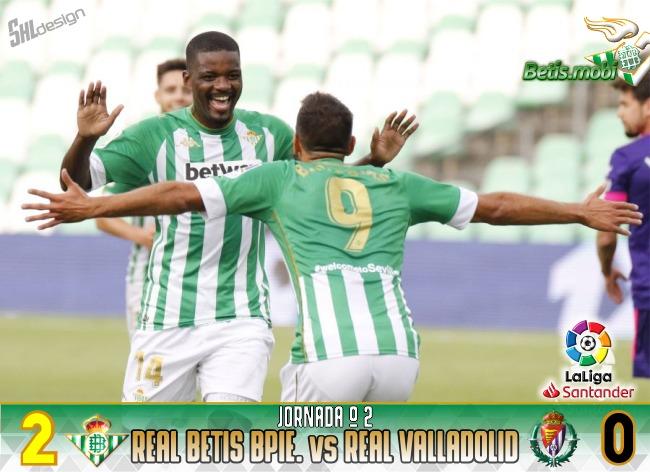 Crónica | Real Betis 2-0 Valladolid CF: segunda victoria consecutiva en la vuelta al Villamarín