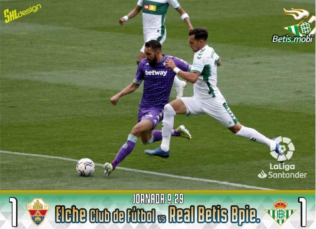 Crónica | Elche CF 1-1 Real Betis: un empate que sabe a poco