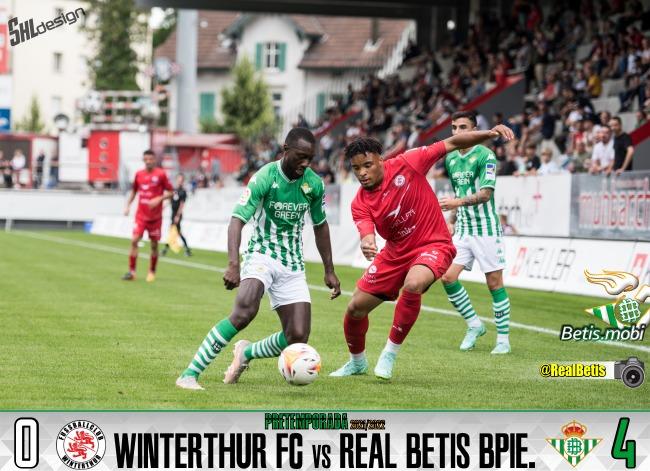 Pretemporada | Winterthur FC 0 – Real Betis Balompié 4: Victoria bética en Suiza